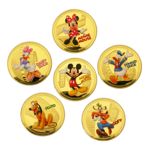 Disney 6 Gold Coin Set