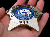 Chicago Sergeant Police Badge Solid Copper Replica Movie Props With Number 911
