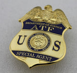 US ATF Special Agent Badge Solid Copper Brooch Pin Replica Movie Props