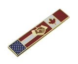 American Canadian Flag Police Citation Bar Undress Merit Award Commendation Lapel Pin