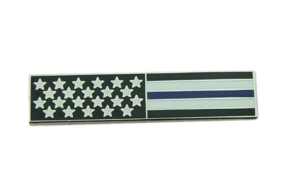 American Flag Thin Blue Line Police Citation Bar Patriot Mourning Band Uniform Lapel Pin