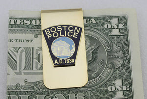 US Boston Police Metal Badge Money Clip