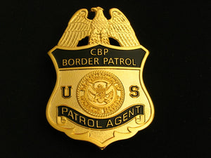 CBP Border Patrol Agent Badge Solid Copper Replica Movie Props