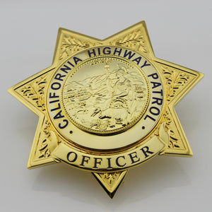 US CHP Officer/Traffic Officer Badge California Highway Patrol  Officer Brooch Replica Movie Props