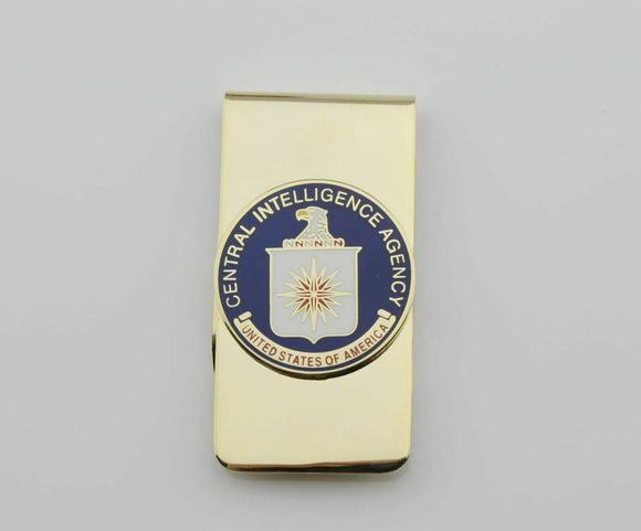 US CIA Metal Badge Money Clip