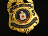 CIA Protective Operations Division Special Agent Badge Solid Copper Replica Movie Props #943