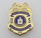 US CIA Special Agent Badge Solid Copper Replica Movie Props (4 optional)