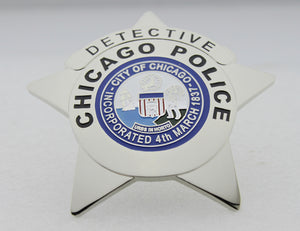 Chicago Police Badge Solid Copper Replica Movie Props