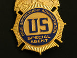 US Eagle DEA Special Agent Badge Solid Copper Replica Movie Props