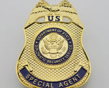US DSS Special Agent Badge Solid Copper Brooch Pin Replica Movie Props