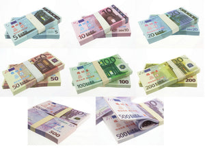 Euro Banknotes Paper Play Money Movie Props