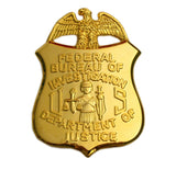 FBI Department of Justice Mini Badge Solid Copper Replica Movie Props 38*55mm