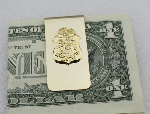FBI Department Of Justice Metal Badge Money Clip