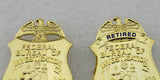 FBI Department of Justice Retired Clip-type Small Badge Replica Props 38*55mm