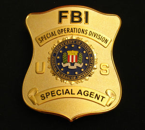 US FBI Special Operations Division Special Agent Badge Solid