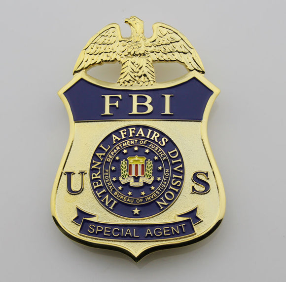 US FBI Special Agent Badge Solid Copper Replica Movie Props