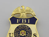 US FBI Special Agent Badge Solid Copper Replica Movie Props (4 optional)