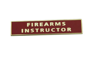 Firearms Instructor Citation Bar Police Merit Award Uniform Lapel Pin