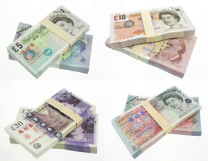 GBP Pound Banknotes Paper Play Money Movie Props