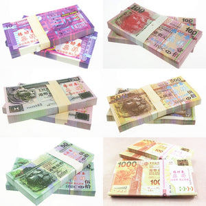 HKD Hong Kong Dollar Banknotes Paper Play Money Movie Props