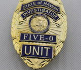 State of Hawaii Five-0 Unit Investigator Badge Replica Cosplay Movie Props