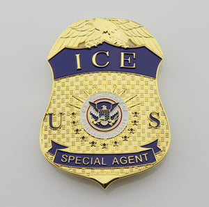 US ICE Special Agent Badge Solid Copper Replica Movie Props