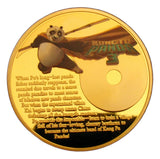 Kung Fu Panda 3 Po Cartoon Movie Colored 24K Gold Plated Coin