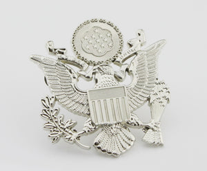 US National Emblem Silver Hat Badge Replica Cosplay Movie Props