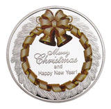 Christmas Eve Merry Christmas & Happy New Year Colored Commemorative Coins