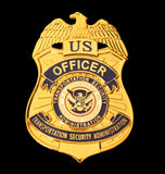 US DHS TSA Officer Badge Solid Copper Replica Movie Props