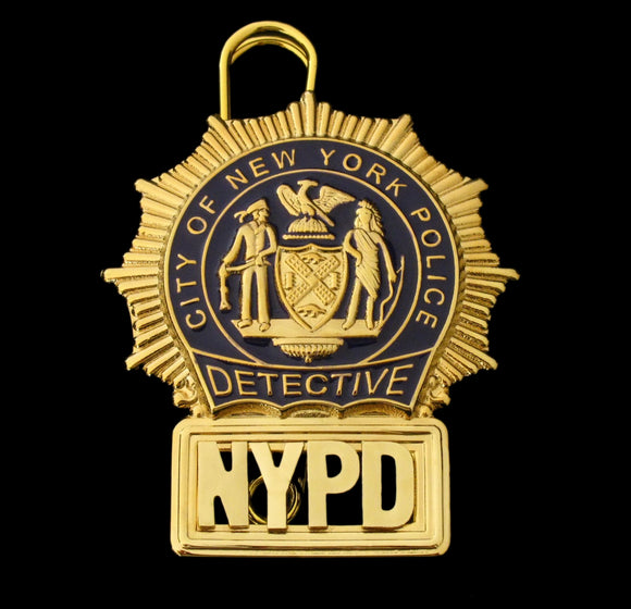 NYPD New York Police Detective Badge Solid Copper Replica Movie Props