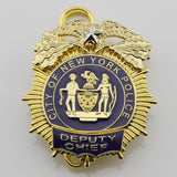 NY New York Police Badge Replica Movie Props 1/2/3/4 Star (Optional)