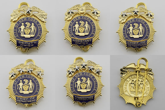 NY New York Police Badge Replica Movie Props 1/2/3/4/5 Star