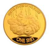 One Shit Year of the Dog 24K Gold Plated Commemorative Lucky Coin