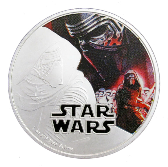 2016 Star Wars: The Force Awakens Kylo Ren Silver Commemorative Coin
