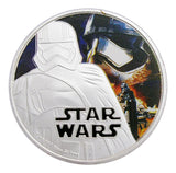 2016 Star Wars: The Force Awakens Stormtrooper Silver Commemorative Coin