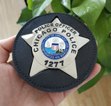 Chicago Police Officer Police Badge Solid Copper Replica Movie Props With Number 1277