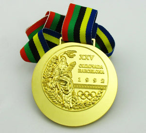 1992 Barcelona Olympic Gold Medal with Ribbon 1:1 Full Size Replica