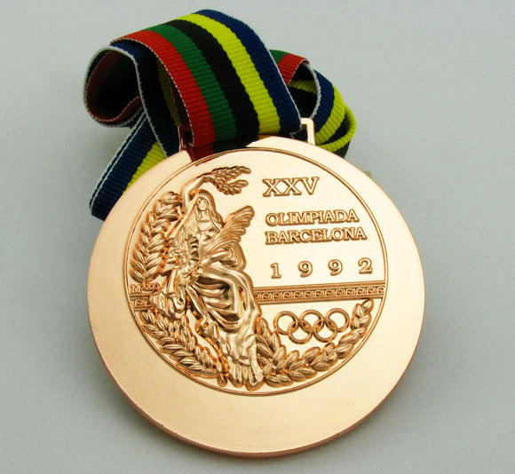 1992 Barcelona Olympic Bronze Medal with Ribbon 1:1 Full Size Replica