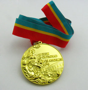 1984 Los Angeles Olympic Gold Medal with Ribbon 1:1 Full Size Replica
