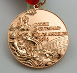 1984 Los Angeles Olympic Bronze Medal with Ribbon 1:1 Full Size Replica