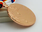Complete Set of 1988 Seoul Olympic Medals Gold Silver Bronze with Ribbon 1:1 Full Size Replica