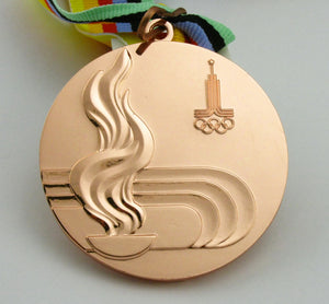 1980 Moscow Olympic Bronze Medal with Ribbon 1:1 Full Size Replica