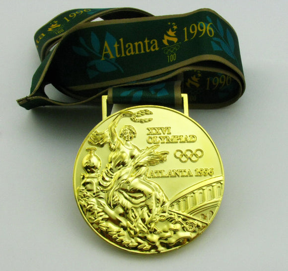 1996 Atalanta Olympic Gold Medal with Ribbon 1:1 Full Size Replica