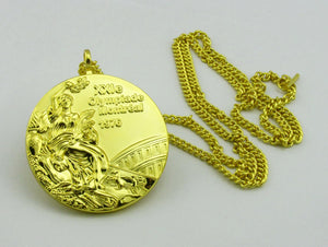 1976 Montreal Olympic Gold Medal with Chain 1:1 Full Size Replica