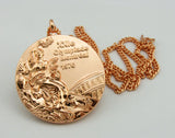 Complete Set of 1976 Montreal Olympic Medals Gold Silver Bronze with Chain 1:1 Full Size Replica