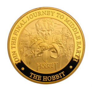 The Hobbit: The Battle of the Five Armies Bilbo Baggins Dragon 24K Gold Plated Coin