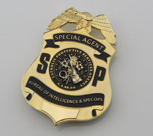 US SSPP Badge Special agent Catholic Protective Services Agency Replica Movie Props