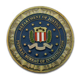 FBI Emblem Saint Michael Patron Saint Of Law Enforcement Challenge Coin