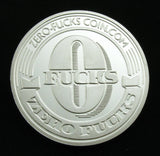 Zero Fucks US NO Fucks Commemorative Silver Coin Culture Creative Gift